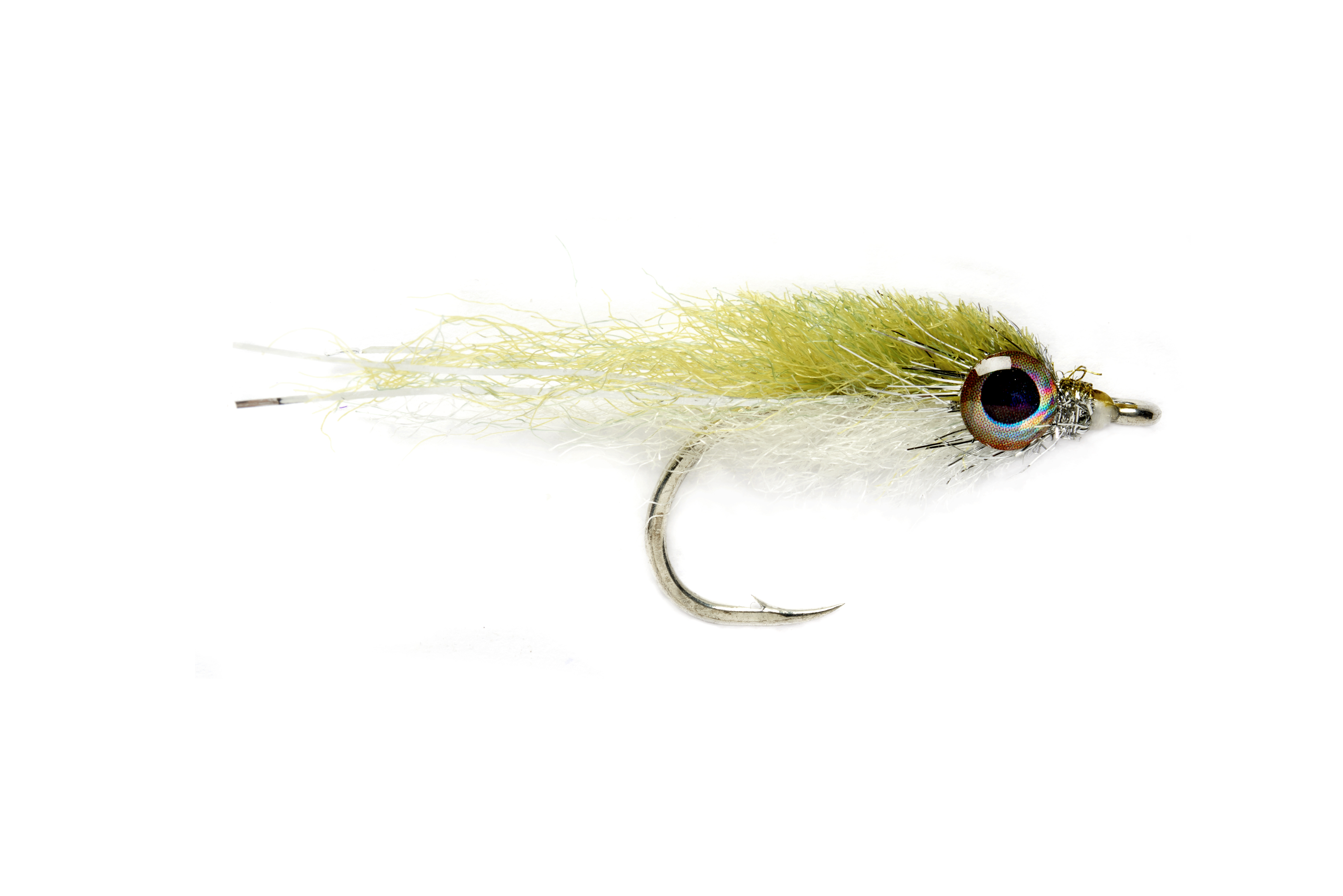 Salty Minnow Olive & White