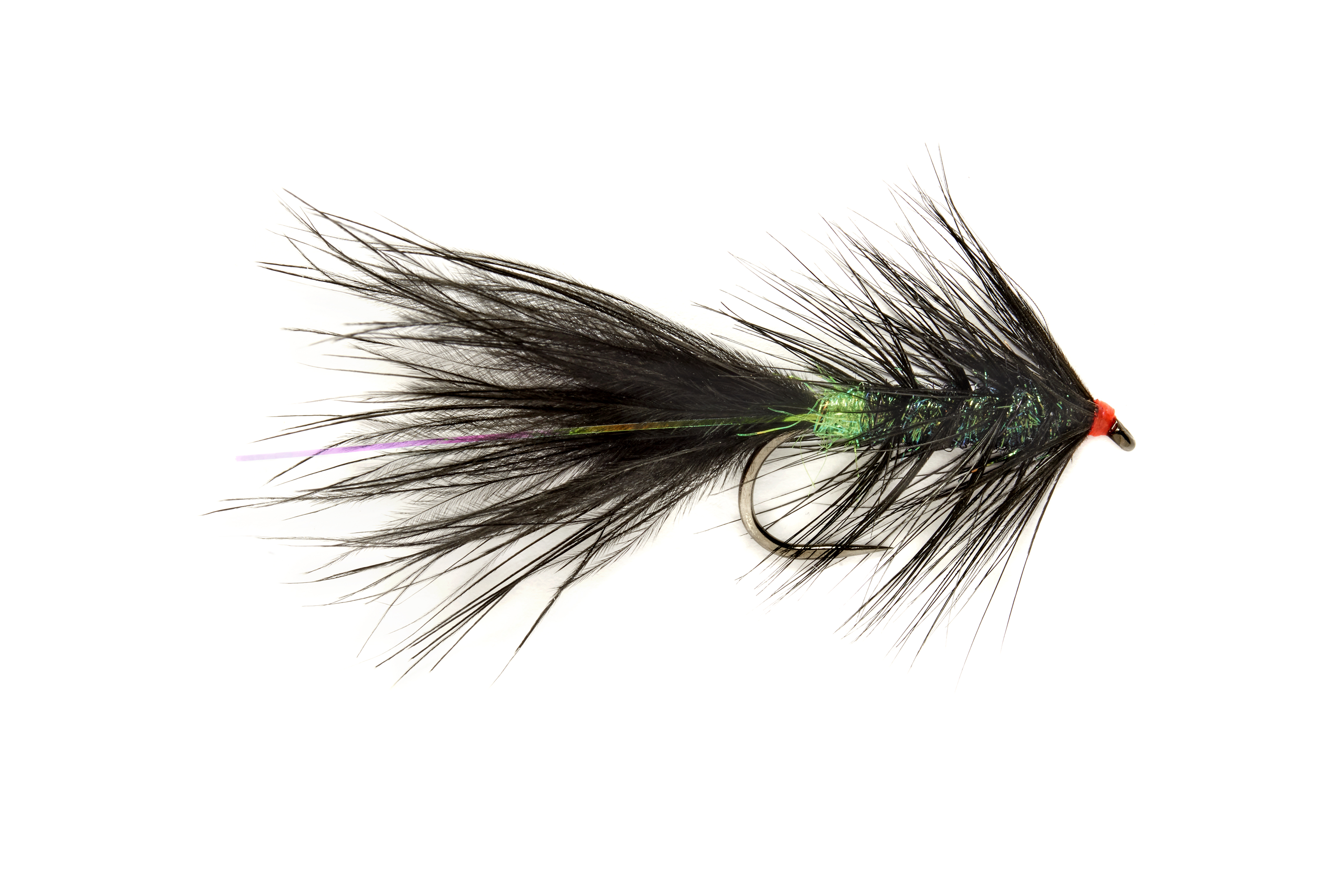 Roza's Black & Green Streamer Barbless