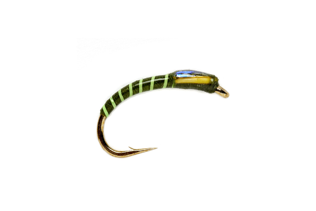 Fluorescent Green Ribbed Olive Buzzer