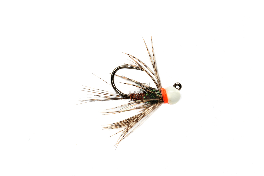 White Bead PT Jig Barbless