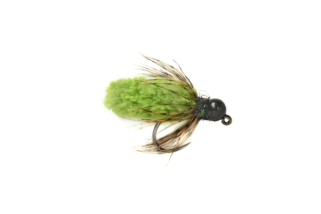 Mop Fly Chartreuse Barbless