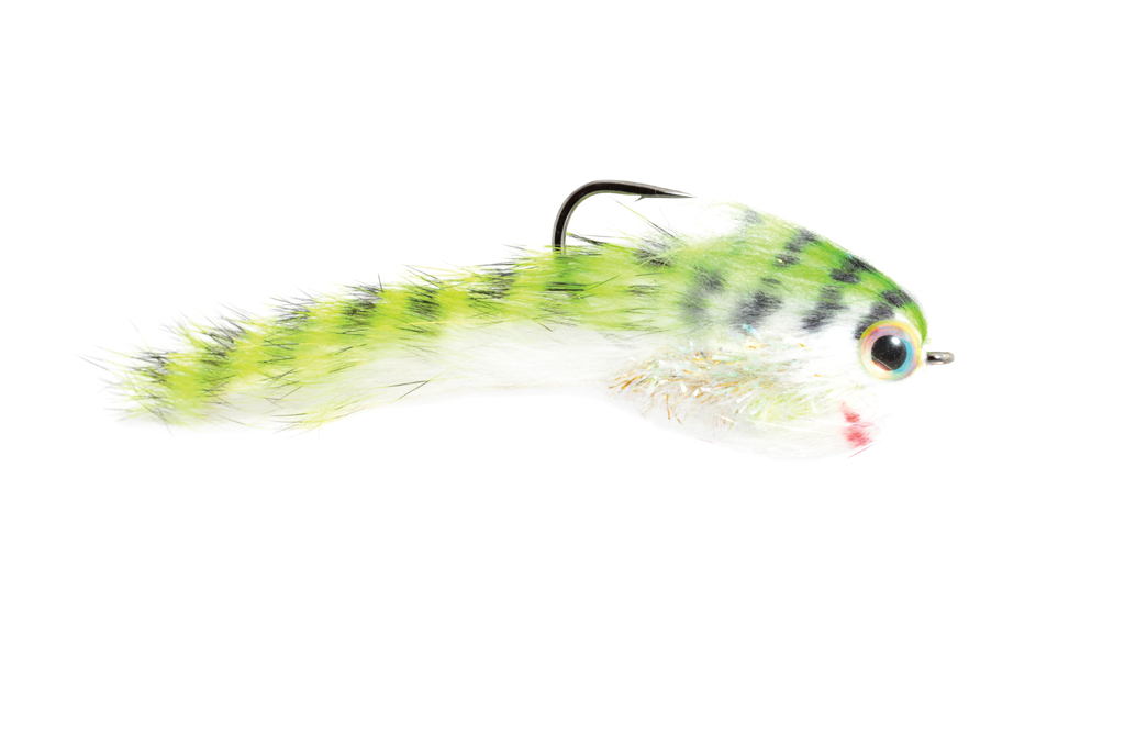 Belly Scratcher Minnow Chartreuse & Black