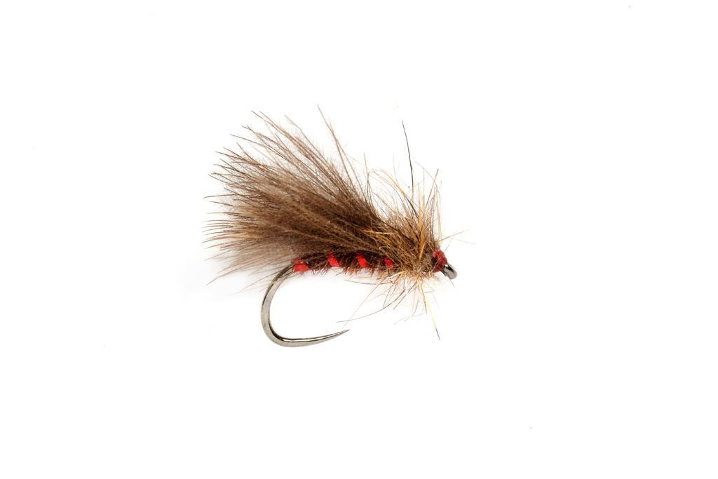 Roza's Red Rib Caddis Barbless
