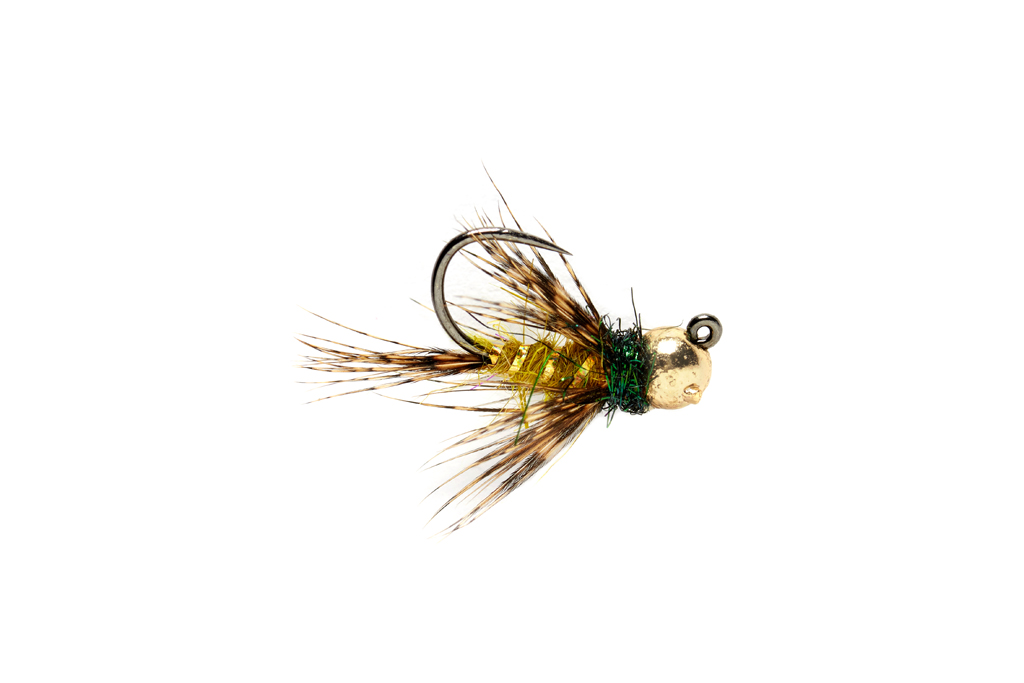Roza's Hackled Jig Olive Barbless