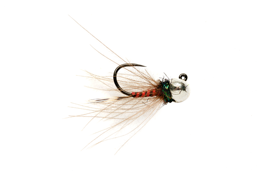 Roza's Red Devil Jig Barbless