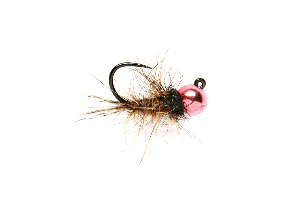 Roza's Pink Hare's Ear Jig Barbless
