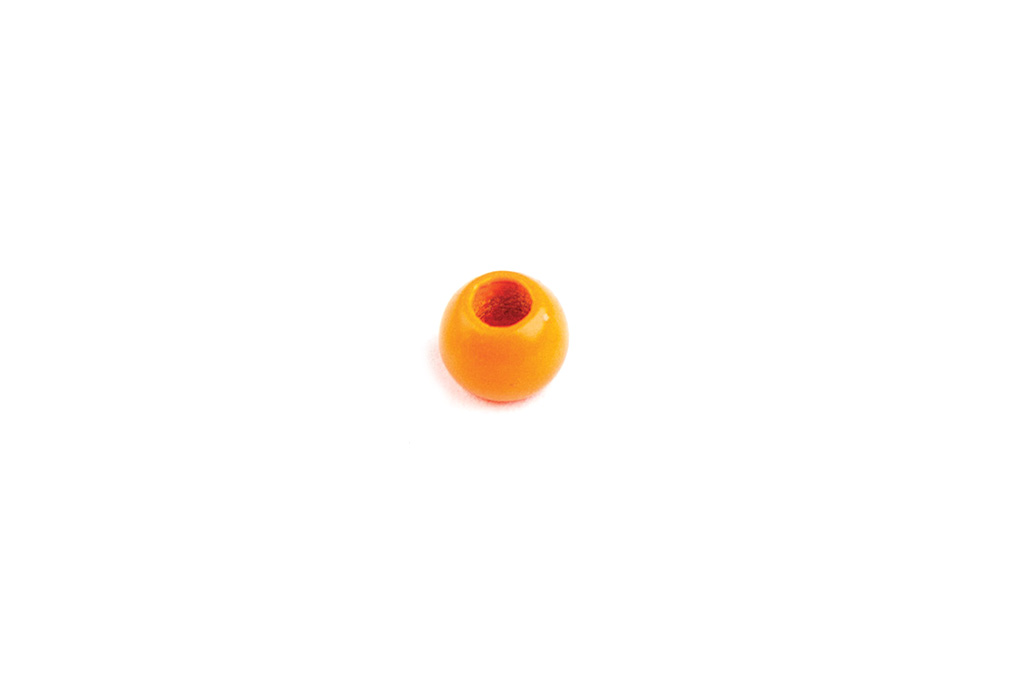 Fluorescent Orange Painted Tungsten Beads