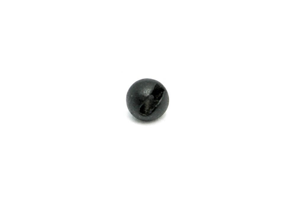 Matte Black Slotted Tungsten Beads