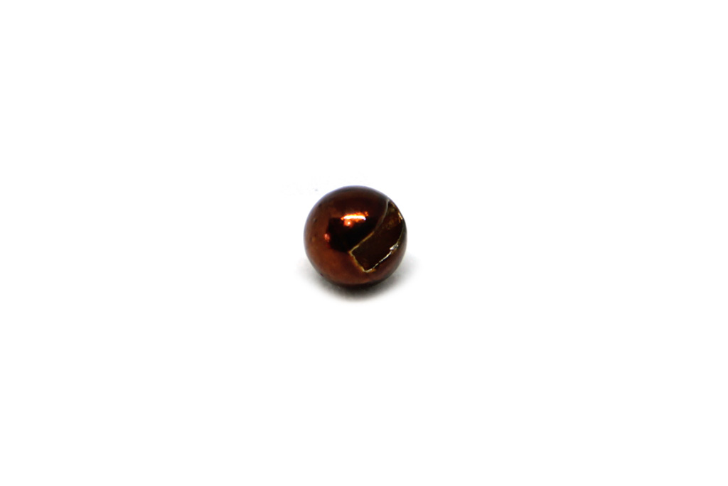 Metallic Brown Slotted Tungsten Beads