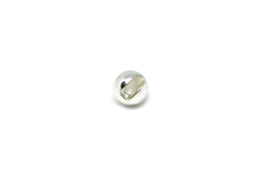 Silver Slotted Tungsten Beads