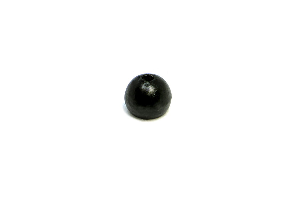 Matte Black Tungsten Beads