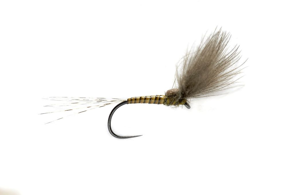 BWO Split Wing Dun Barbless