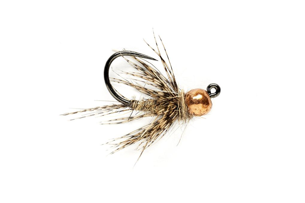 KJ March Brown Jig Barbless