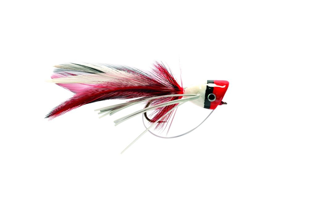 Bass Popper Red & White