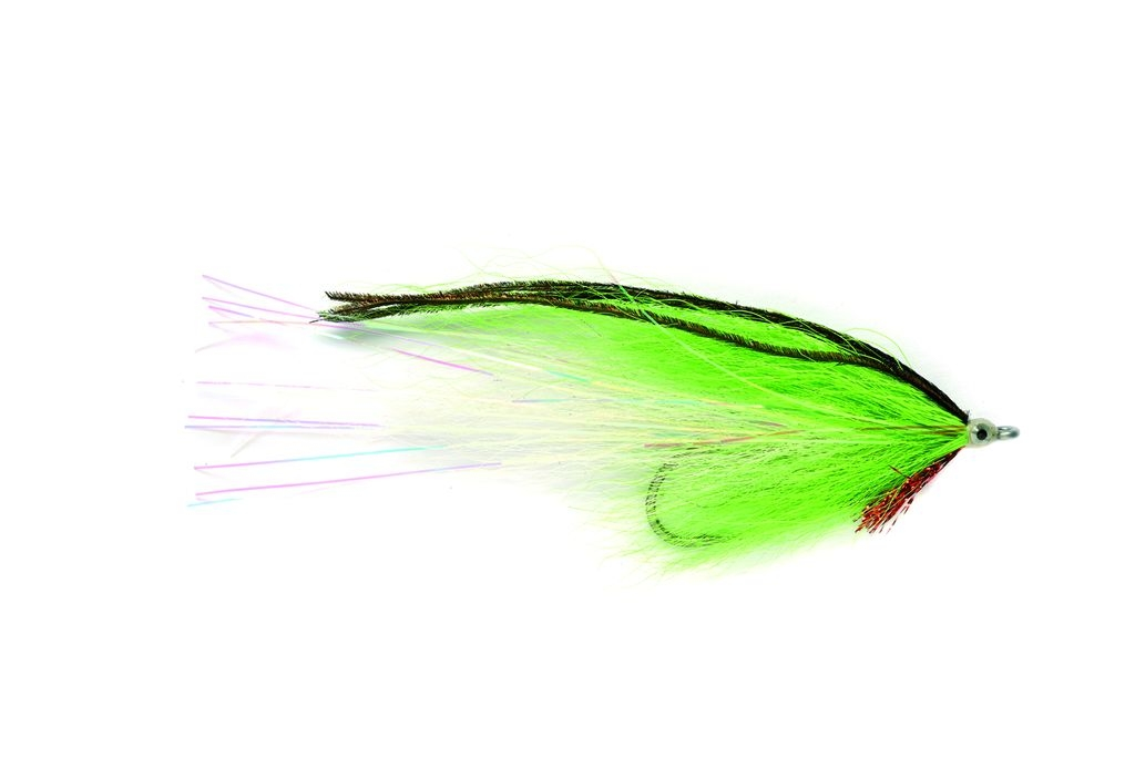 Bucktail Chartreuse White