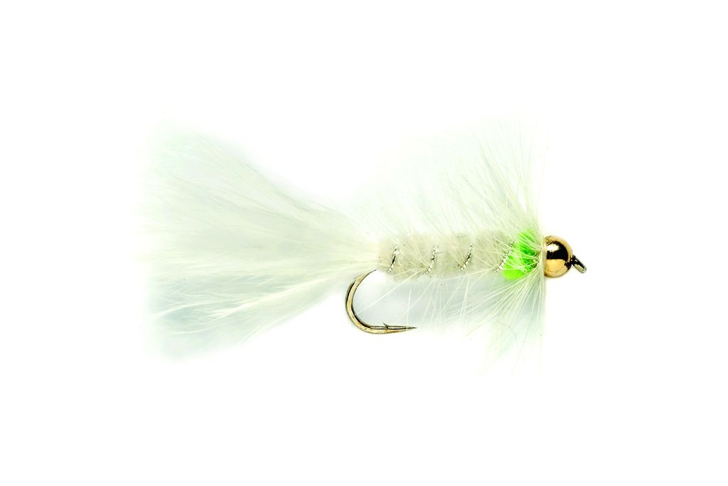 Woolly Bugger White & Green (Gold Nugget)