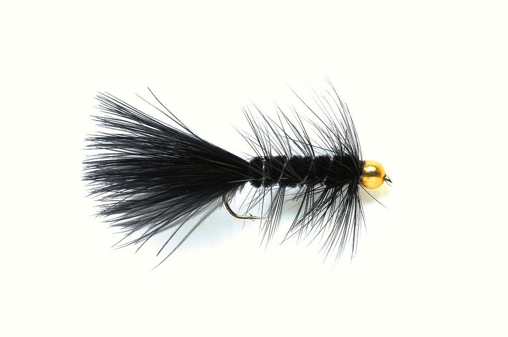 Woolly Bugger Black (Gold Nugget)