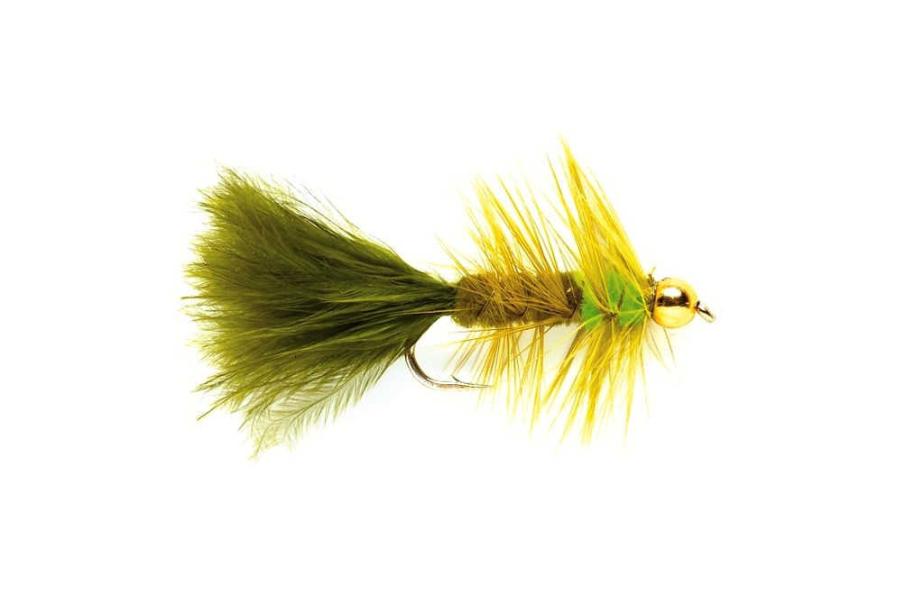 Woolly Bugger Olive & Green (Gold Nugget)