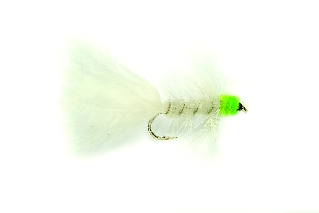 Woolly Bugger White & Green
