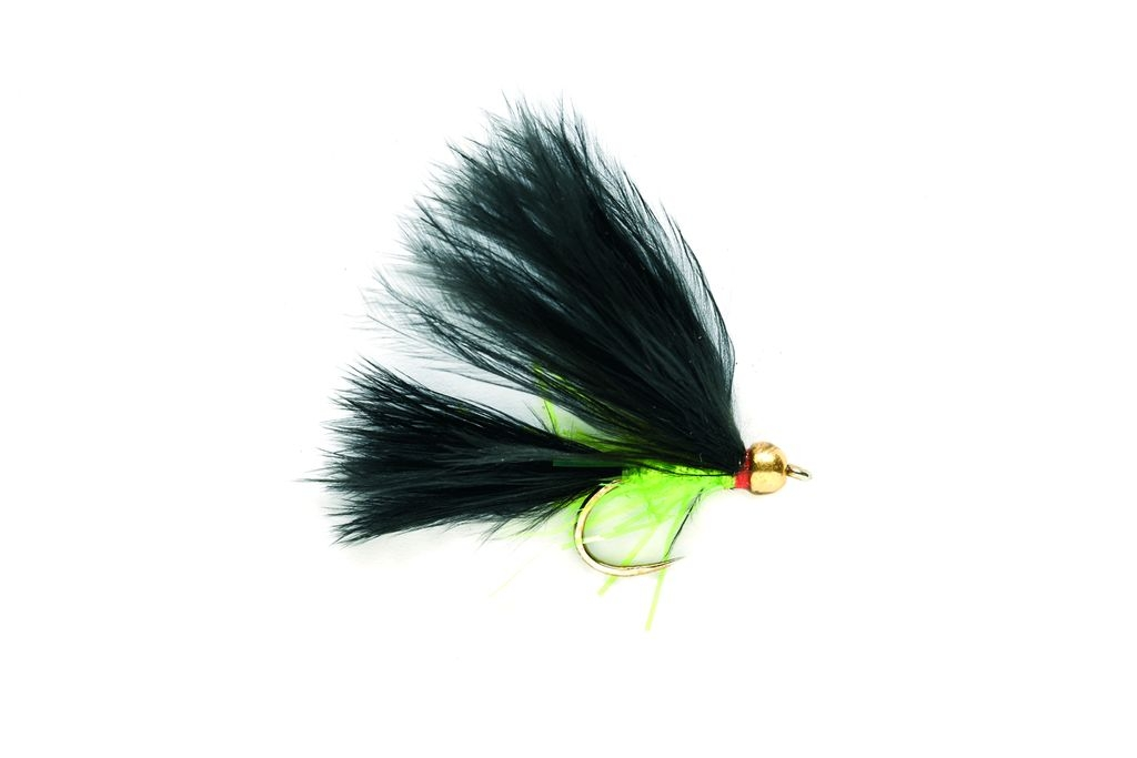 Gold Head Black Cat Barbless