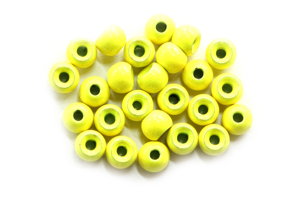 Fluorescent Chartreuse Painted Tungsten Beads