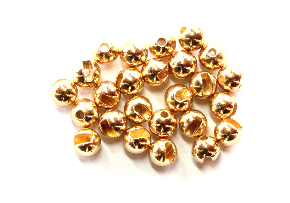 Gold Slotted Tungsten Beads