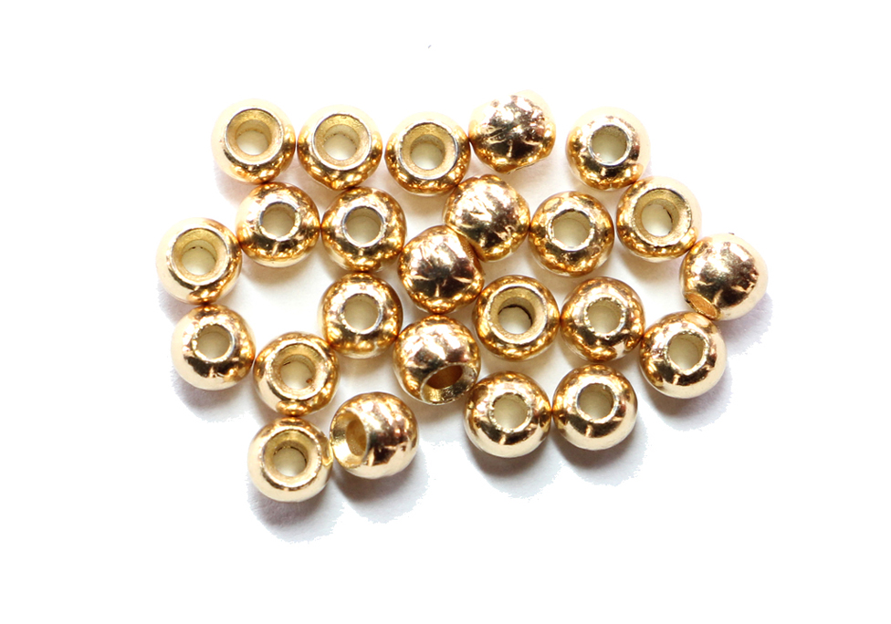 Gold Countersunk Tungsten Beads